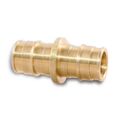 Uponor Wirsbo LF4547510 ProPEX LF Brass Coupling 34 PEX x 1 PEX