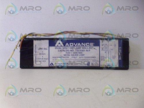 Advance 72C5381NP - 100 Watt - Pulse Start Metal Halide Ballast - ANSI M90M140 - 120277 Volt - Power Factor 90 - Side Leads with Mounting Feet
