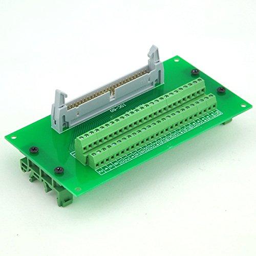 Electronics-Salon IDC50 Header Interface Module with Simple DIN Rail Mounting feet