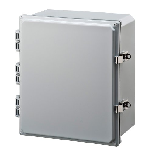 Integra H141206HLL Premium Line Enclosure Hinged Locking Latch Cover Opaque Cover Mounting Feet 14 Height 12 Width 6 Depth
