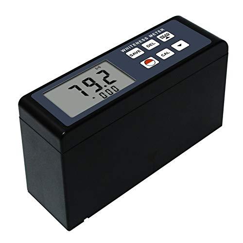 Whiteness Meter Leucometer 0~120 White Color Degree Tester Measuring Instrument for Paint Paper Powder Salt Flour Handheld Portable Digital with Aluminium Case
