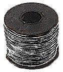 MSS PVC Wire 22 AWG Stranded 730 Strand Wire 100 FT Color White with Black Stripe