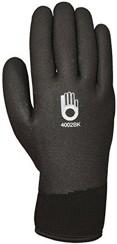 Bellingham C4002BKM Insulated Thermal Knit Work Glove HPT PVC Water Repellent Palm Medium Black