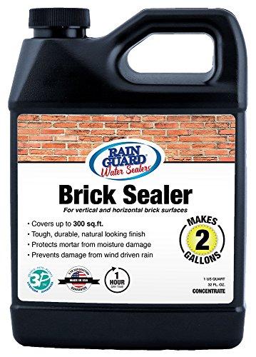 Rainguard SP-3002 - 32 oz Concentrate Makes 2 Gallons Premium Brick Sealer Clear Finish Water Repellent for Bricks