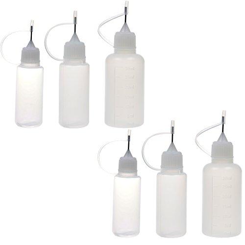 BCP 2pcs 15ml 2pcs 20ml2pcs 30ml Steel Needle TIP Plastic Dropper Bottles E-liquids All Liquids Bottles