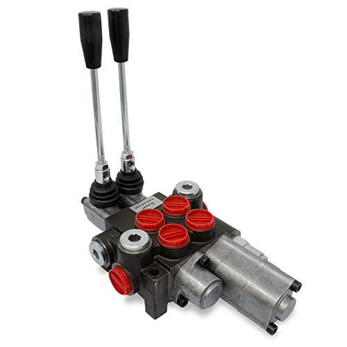Monoblock Hydraulic Directional Control Valve 2 Spool wSingle Float Detent 11 GPM