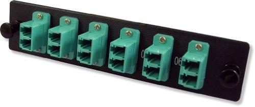 Lynn Electronics 12 Fiber LC 10GIG Multimode Adapter Strip 6 Duplex LC 10GIG Ports LGX Footprint