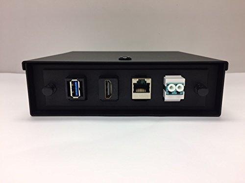 Wall Mount Fiber Optic Box 4 Customize Ports Cat6 HDMI USB LC Duplex 6x 6x 2