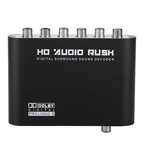fo sa DTS Audio Decoder DTSAC-3 Digital Signal RL Signal to 51 Analog Audio Signal Converter 120dB Support MP3  AC3  DTSWAVWMA 2 Channels SPDIF Fiber Input