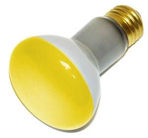 Illuminated Coatings 43232 - 45R20Y 130V Colored Flood Light Bulb