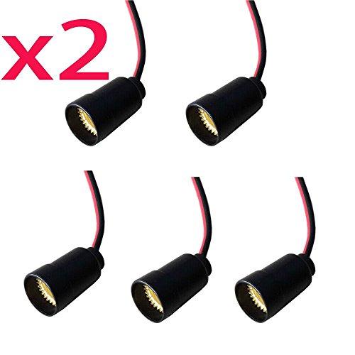 SmartDealsPro 10-Pack E12 Candle Candelabra Light Socket Lamp Holder Base with Leads
