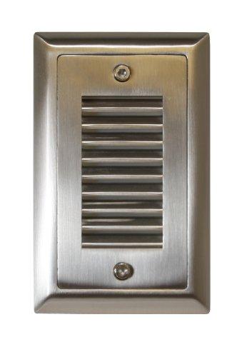American Lighting SGL-VL-SS Vertical Louver Faceplate for LED Step Light Stainless Steel