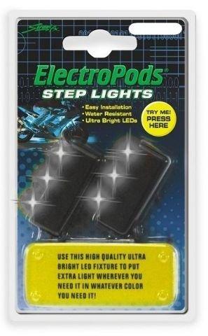 LED STEP LIGHTS WHTBLK 2PK