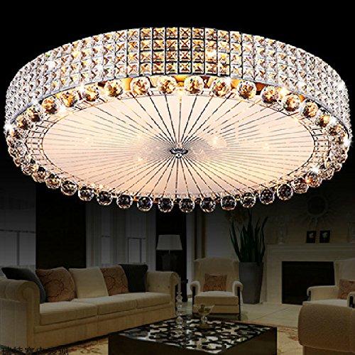 BSYY LED Crystal ceiling lamp round the living room lighting atmosphere romantic master bedroom lights modern room lights dimming 400 mm
