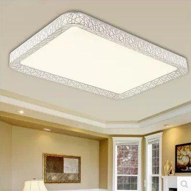 BSYY LED ceiling lamp rectangular living room lighting atmosphere modern minimalist stepless bedroom lights