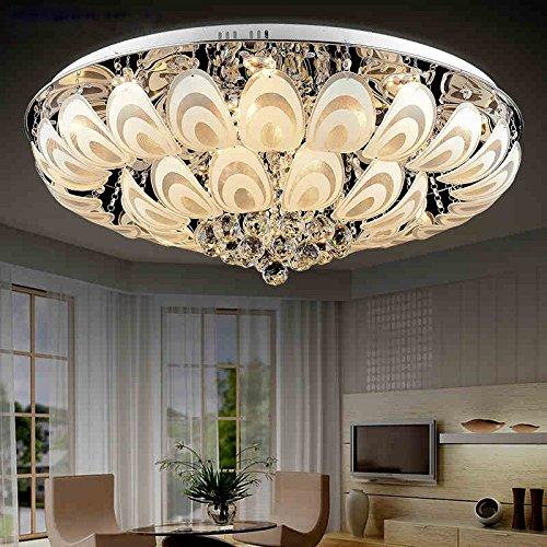 BSYY Modern romantic round led Crystal light atmospheric living room lighting dining room bedroom ceiling lamp light lamp 48CM
