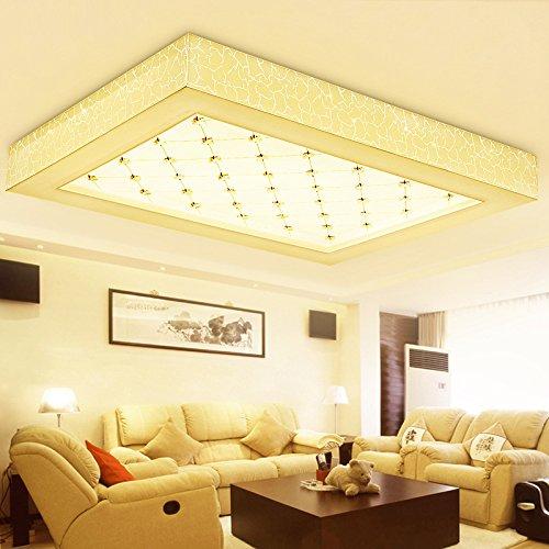 BSYY Remote control dimmer LED ceiling lamp living room lighting atmosphere creative lighting rectangular modern minimalist bedroom lamp 6846 mm