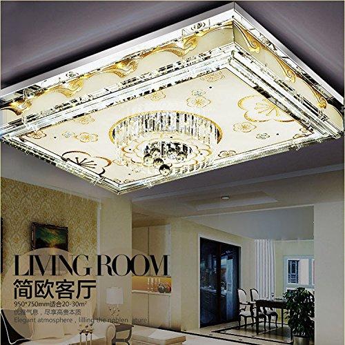 GUTONG Crystal light led ceiling lights modern minimalist bedroom lamp rectangular living room lighting lamps