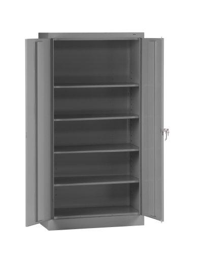 Tennsco 7218 24 Gauge Steel Standard Welded Storage Cabinet 4 Shelves 150 lbs Capacity per Shelf 36 Width x 72 Height x 18 Depth Medium Grey