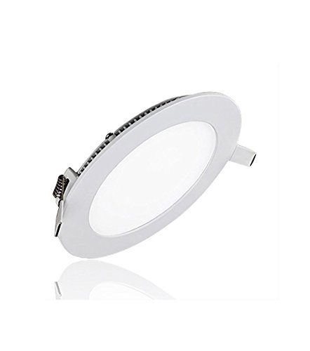 12W LED Super Bright Panel Wall Ceiling Lights Ultra-thin Panel Lamp Recessed Downlight Round Input 86-265V Lighting for OfficeHotelKitchenBed roomBathroom Aluminum Warm White12W-3000K