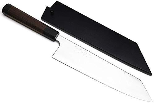 Yoshihiro High Performance SLD Steel Kiritsuke Knife Mirror Polish Rosewood Handle with Lacquered Nuri Saya Cover