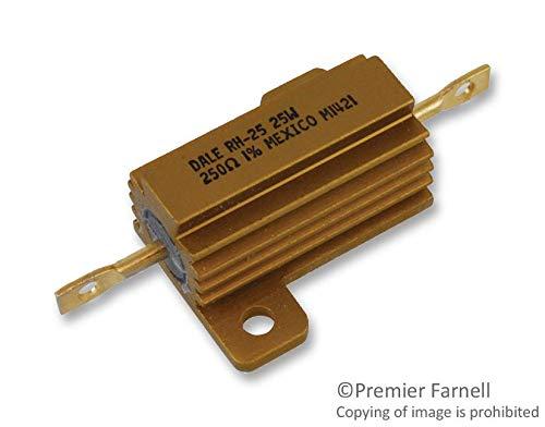 DALE VISHAY RH025250R0FE02 RH Series 2677 x 1984 mm 25 W 250 Ohm ±1  ±20 ppm°C Wirewound Resistor - 5 items