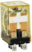 IDEC RH2B-UDC24V Relay RH Series 10 AMP 240 VAC 24 VDC Coil 8 Blade DPDT Socket Non Latching