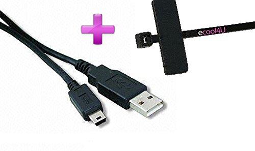 JVC GC-PX10 Compatible USB Cable Mini-Mini USB Cable 10 ft Long Plus  eCool4U Cable Tie