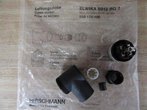 Hirschmann 933 175-100 Connector M12 E Plug Female 5 Pole Angled 933 175-100