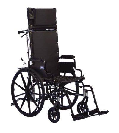 Invacare 9RC 9000 XT Reclining Wheelchair - 18 x 17 Desk Arm Rcl Bk 23
