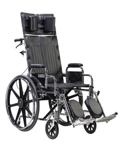 STD22RBDDA - Sentra Reclining Wheelchair Detachable Desk Arms 22 Seat