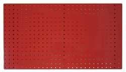 STORE LOGIC 5TPC1 Square Hole Pegboard 42-12x24 Red PK2