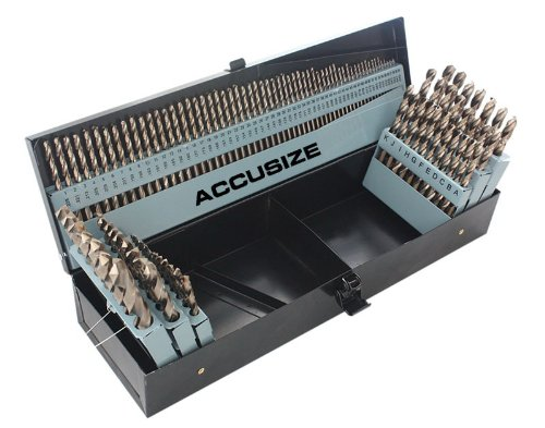 Accusize Industrial Tools M35-HSS plus 5 Cobalt 115 Pc Professional Drill Bit Set 135 Deg Split Point 3-In-1 116-12 Number 1 to 60 A to Z