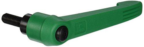 Kipp 06610-4A486X25 Fiberglass Reinforced PlasticSteel Adjustable Handle with 38-16 External ThreadNovo·Grip Style Steel Components Inch 25 mm Screw Length Size 4 Signal Green Color