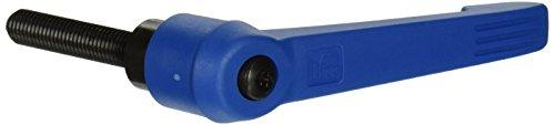 Kipp 06610-51287X60 Fiberglass Reinforced PlasticSteel Adjustable Handle with M12 External ThreadNovo·Grip Style Steel Components Metric 60 mm Screw Length Size 5 Traffic Blue Color