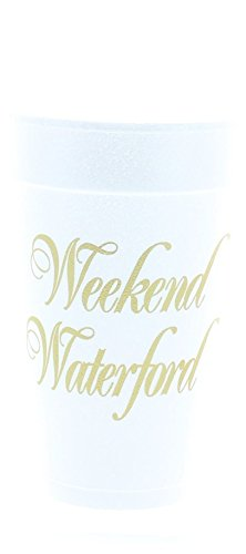 PARTY CUPS Weekend Waterford 10 CUPS Metallic Gold Print Color