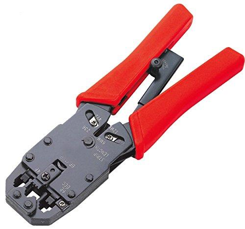 GUWANJI HT-2008R 205mm PP Handle Modular Crimping Tools Telecom Crimpers