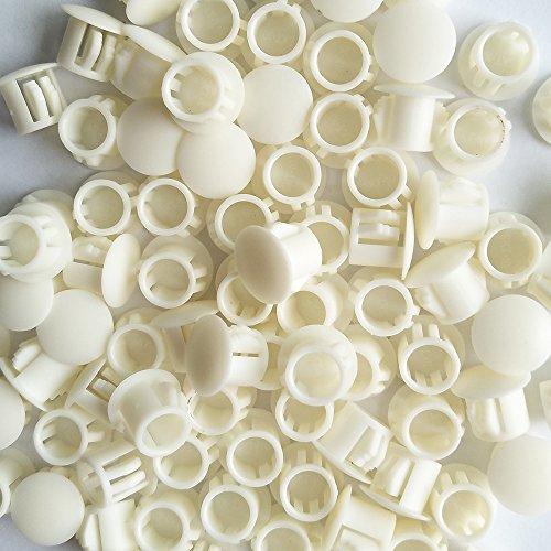 YEJI 50PCS 11mm043in Panel Plugs Hole Plugs Mounting Hole 108-112mm Plastic Flush Type Hole Plugs Home Furniture Fastener Plastic Pipe Choke Plug White Color