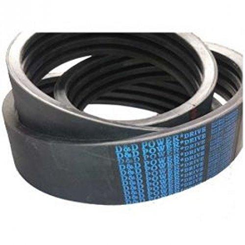 D&D PowerDrive D12002 Metric Standard Replacement Belt  D  2 -Band 125 Length Rubber