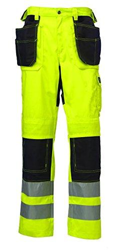 Helly Hansen 76494_369-D120 Bridgewater Construction Hi-Vis Pants D120 YellowCharcoal