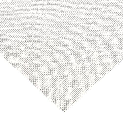 Aluminum Woven Mesh Sheet Unpolished Mill Finish ASTM E2016-06 12 Width 12 Length 002 Wire Diameter 51 Open Area