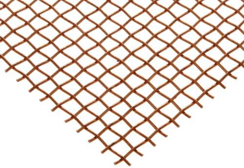 Copper Woven Mesh Sheet Unpolished Mill Finish ASTM E2016-06 12 Width 12 Length 00045 Wire Diameter 30 Open Area