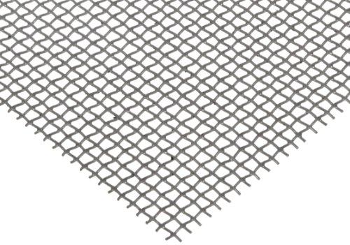 Steel Woven Mesh Sheet Zinc Galvanized Finish 12 Width 24 Length 0063 Wire Diameter 76 Open Area