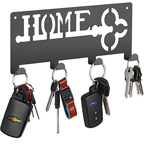 Decorative Wall Key Holder  Modern Key With 4 Hooks  Keyring Holder  Hanging Coat Key Rack with Hooks
