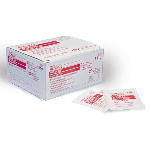 Covidien 5033 Sterile Alcohol Prep Pads 1 Ply Box 4000 Pads Large 18 x 17 1 Ply