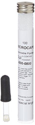 Drummond Scientific 1-000-0800 Original Disposable Microcap Pipet 80 uL Capacity 00565 OD x 00413 ID 367 L
