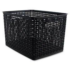 Advantus Corp Storage Bin Weave 135x105x875 Black