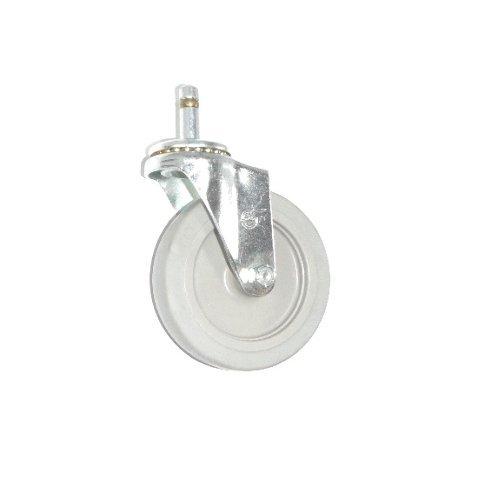 DuraStar Swivel Stem Caster 4 x 78 Soft Rubber Wheel 716 Grip Ring Gray One