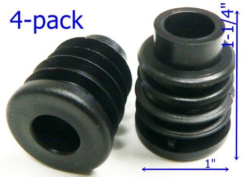 Oajen Caster Socket for 716 Diameter Grip Ring stem 1 OD 18 Gauge Round Tube 4-Pack