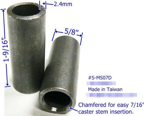 Oajen Caster Socket for 716 Diameter Grip Ring stem Welding 4-Pack